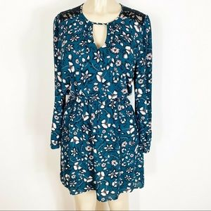 EXPRESS FLORAL PRINT STRAIGHT HEM DRESS